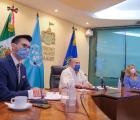 """Firma Enrique Alfaro convenio con la ONU para la aplicación del programa """"Construyendo Familias"""" en Jalisco"""