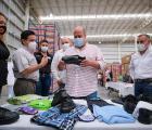 Supervisa Gobernador Enrique Alfaro bodegas del programa de mochilas, útiles, uniformes y zapatos escolares para estudiantes de educación pública de Jalisco
