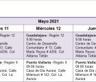Activación de brigadas Jalisco te Reconoce al interior del estado del 17 al 23 de mayo