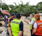 """El Gobierno del Estado ya se encuentra trabajando para contener las afectaciones y atender a la población tras el paso del Huracán """"Nora""""."""