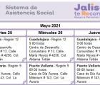 Activación de brigadas Jalisco te Reconoce al interior del estado del 24 al 28 de Mayo